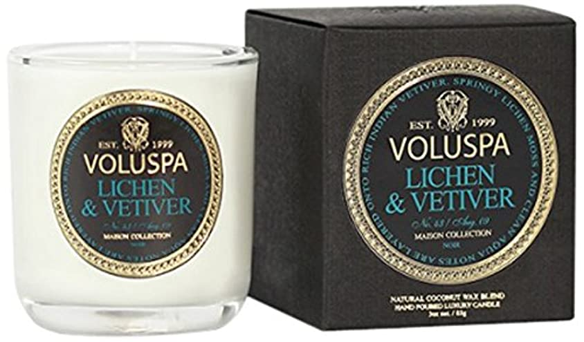 ヒョウむしゃむしゃボアVoluspa ボルスパ メゾンノワール ミニグラスキャンドル ライケン&ベチバー MAISON NOIR Mini Glass Candle LICHEN & VETIVER