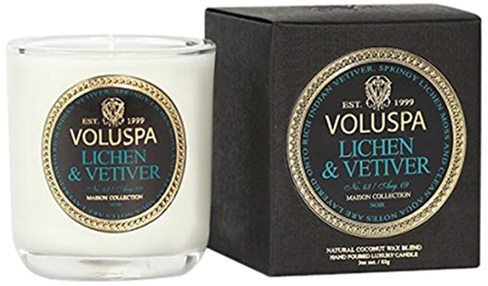 スムーズに違反頂点Voluspa ボルスパ メゾンノワール ミニグラスキャンドル ライケン&ベチバー MAISON NOIR Mini Glass Candle LICHEN & VETIVER