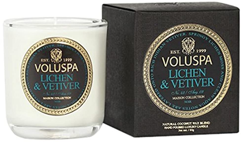 錆び松の木後悔Voluspa ボルスパ メゾンノワール ミニグラスキャンドル ライケン&ベチバー MAISON NOIR Mini Glass Candle LICHEN & VETIVER