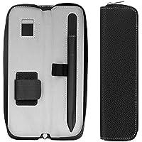 Apple Pencil ケース - ATiC Apple iPad Pro Pencil用 スリーブ ポーチ PUレザー製 内蔵ポケットとホルダー ジッパータイプ キャリングバッグ/ホルダー, BLACK