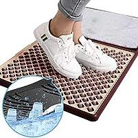 ドアマット 水?消毒液で洗う 立體3D 玄関マット 靴 除菌 泥落とし 業務用 オフィス用 店舗 家庭用 撥水加工 滑り止め グレー 事業再開枠 SPM-DRMT-GR-2