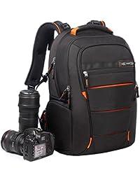 TMJJ メンズレディーズ カメラバッグ リュック DSLR専門性な一眼レフ pcバッグ 大容量 多機能 防水耐衝撃 アウトドア 旅行 トラバル 三脚取付可 おしゃれ Canon Nikon Sony Nikon Olympus