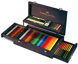 Faber-Castell Art and Graphic Collection Mahogany Vaneer Case アートペン (並行輸入品)
