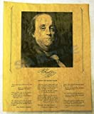 Benjamin Franklin--Portrait and Interesting Thoughts by THES [並行輸入品]
