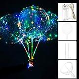 光る風船 20インチ光るバルーン LEDジュエリーライト 透明発光風船 雰囲気飾る光るバルーン クリスマス 飾り 花火大会 結婚式 パーティー ライト付き装飾球