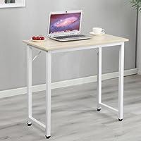 DlandHome オフィスデスク 机 パソコンデスク(幅80×奥行40×高さ75cm)テーブル 勉強机 大人 ワークデスク