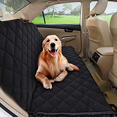 Car Seat Covers for Dogs - DESINO Enlarged Pet Car Seat Covers, Waterproof, Nonslip Meshes, Hammock, Machine Washable and Durable, Quilted and Padded Dog Seat Covers for Cars, Trucks and SUVs