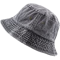 THE HAT DEPOT Washed Cotton Denim Bucket Hat