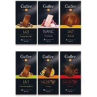 【 Galler (ガレー) ベルギー王室御用達 チョコレート 】 TABLETS タブレット 80G*バラエティセット (6枚セット)