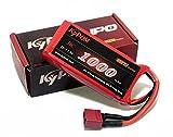 KT1000 2S 30C KyPOM K6シリーズ リポバッテリー 7.4V-1000mAh-30C