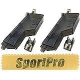 SportPro Fidragon製 ST03 電動ガン ガスブローバックライフル エアガン 6mm BBローダー 155発 2本セット プラスチック製 - ブラック