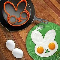 Zoomyはるか:HOT!朝食ラビット目玉焼き金型パンケーキ卵リングシェイパーおかしいクリエイティブキッチンツール:オレンジ