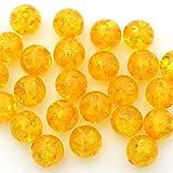 t106 10032593 粒売り 黄金色アンバー(琥珀、コハク) 丸ビーズ 8mm