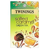 トワイニングはパックあたりキャラメル緑茶20を塩漬け (x 6) - Twinings Salted Caramel Green Tea 20 per pack (Pack of 6) [並行輸入品]