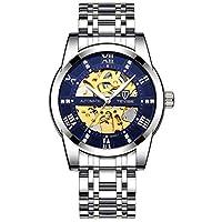 メンズウォッチファッションオートメカニカルウォッチ中空腕時計防水ウォッチメンズ