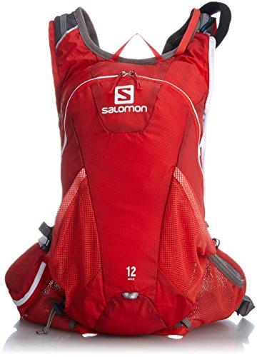 dc7aa0cb875a [サロモン] ランニングハイドレーションバッグ AGILE 12 SET BRIGHT RED/White タテ44cmxヨコ20cmxマチ15cm  ポケットの数:5(外側4/内側1) 重量:460g ...