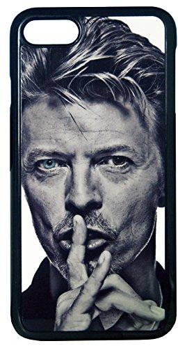 【David Bowie】デヴィット・ボウイ モノクロ ブルーアイ iPhone7/ iPhone8 ハードカバー [並行輸入品]