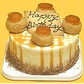 キャラメルバースデーケーキ 【4号 12cm バースデーケーキ 誕生日ケーキ デコ】::128