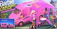"Barbie STARLIGHT MOTOR HOME Pink Vehicle MOTORHOME Van with TENT & TRAIL RIDER ""Jeep"" (1993)"