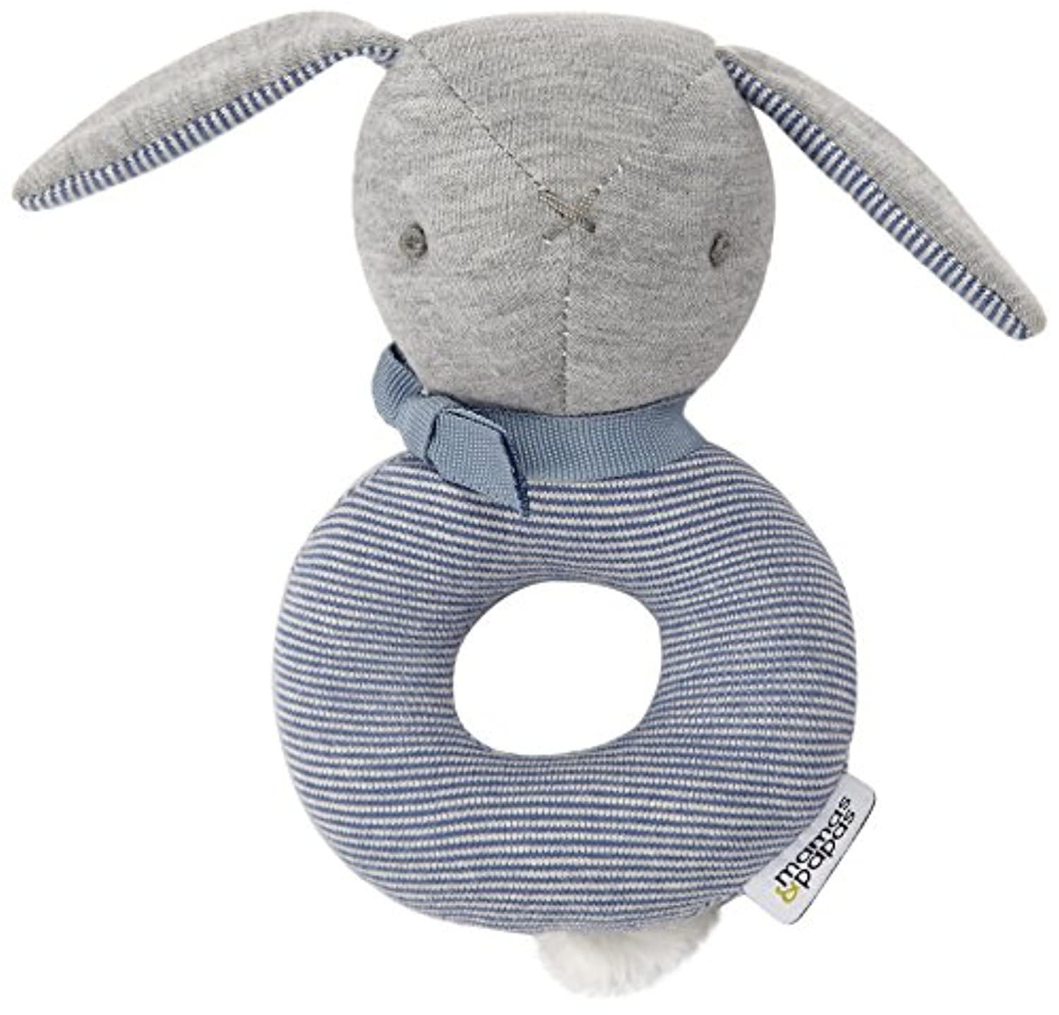 Mamas and Papas Welcome to the World Bunny Rattle、ブルー