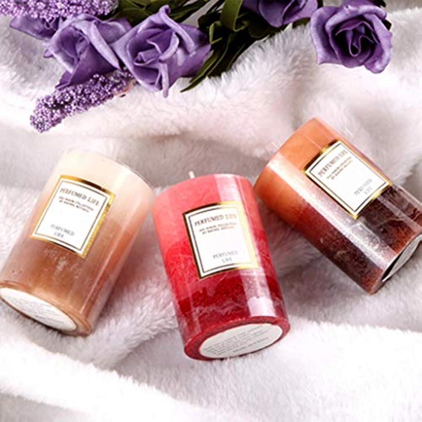 ラオハオ アロマキャンドルホーム植物大豆ワックス無煙香りロマンチック燃焼20時間3ピース 屋内アロマセラピー (Color : Mixed incense)