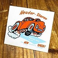 ステッカー 復刻 ダグズヘッダー DOUG'S HEADER HEADER-STEREO_SC-DZ106-MON