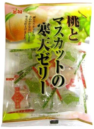 金城製菓 160g 桃とマスカットの寒天ゼリー 160g×10袋