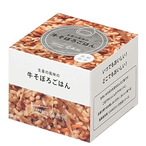 IZAMESHI(イザメシ) CAN 缶詰 生姜の風味の牛そぼろごはん 長期保存食 防災食 非常食