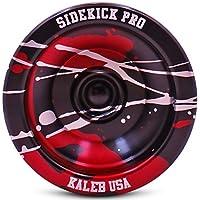 Black Red Silver Splashes Yo-Yo Professional Aluminum Sidekick Pro YoYo [並行輸入品]