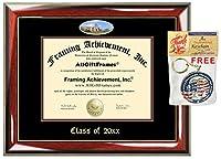 allgiftframesカスタム卒業証書フレームエンボスLee大学カレッジBest卒業式Degreeフレームダブルマットキャンパス魚眼レンズLee画像フレームCheap度卒業ギフト Diploma Size - 8.5 x 11 SC1P_Lee-8.5x11