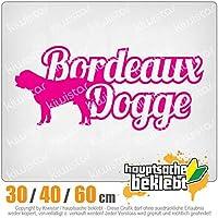 KIWISTAR - Dogue de Bordeaux with name 15色 - ネオン+クロム! ステッカービニールオートバイ