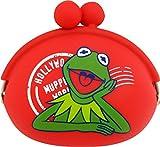 山二(Yamani) カーミット シリコン がまぐち レッド H9×W10×D4cm Sesame Street Kermit The Frog 8922