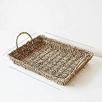 DCAH ストレージバスケットストローストレージバスケットフルーツスナックストレージバスケットティートレイ Laundry basket (色 : ベージュ)