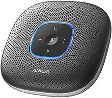 Anker PowerConf, スピーカーフォン 会議用 全指向性 マイク Bluetooth オートゲインコントロール エコーキャンセリング ノイズリダクション モバイルバッテリー 機能 Skype Zoom など対応 24時間連続使用...