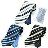 メンズ ウーノ 洗えるネクタイ 3本セット 洗濯ネット1個付き 撥水加工 ウォッシャブル加工 ung-3set レジメン