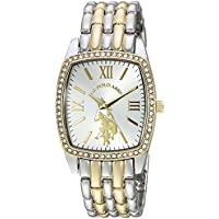 U.S. Polo Assn. Women's Analog-Quartz Watch with Alloy Strap, Two Tone, 18 (Model: USC40245AZ)