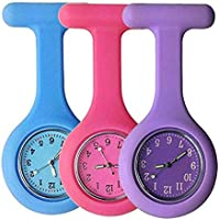 Nurse Watch Clip-on Hanging Pocket Watch with Pin/Clip, Glow in Dark, Infection Control Design