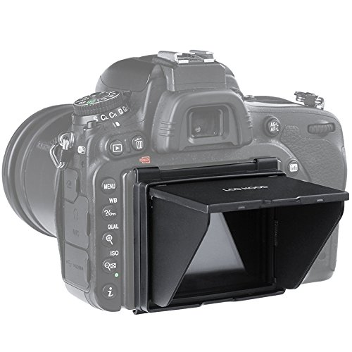 STSEETOP LCDスクリーンサンシールドフード 液晶保護フィルム モニター保護セミハードシート (Nikon, D7500)