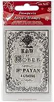 """Stamperia Clear Stamp 2.5""""X4""""-Eau De Roses"""