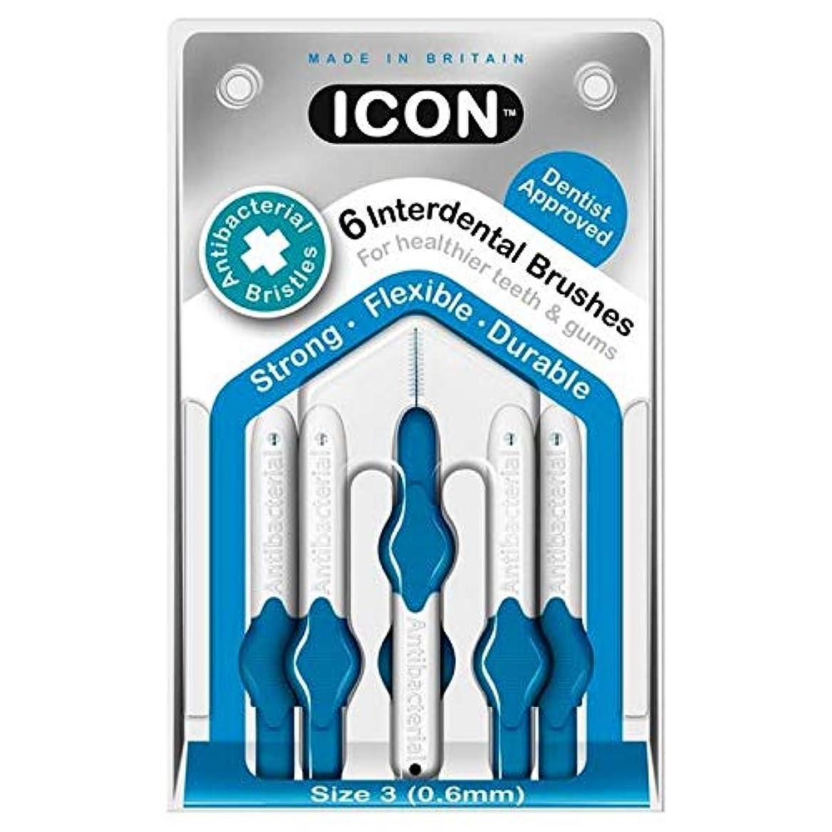 知人反響する未亡人[Icon ] アイコンの歯間には、パックあたり0.6ミリメートル6ブラシ - Icon Interdental Brushes 0.6mm 6 per pack [並行輸入品]
