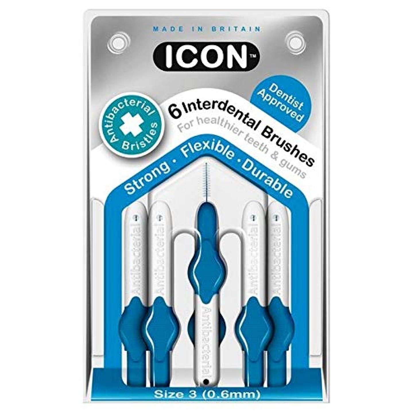 キャベツ登場前に[Icon ] アイコンの歯間には、パックあたり0.6ミリメートル6ブラシ - Icon Interdental Brushes 0.6mm 6 per pack [並行輸入品]