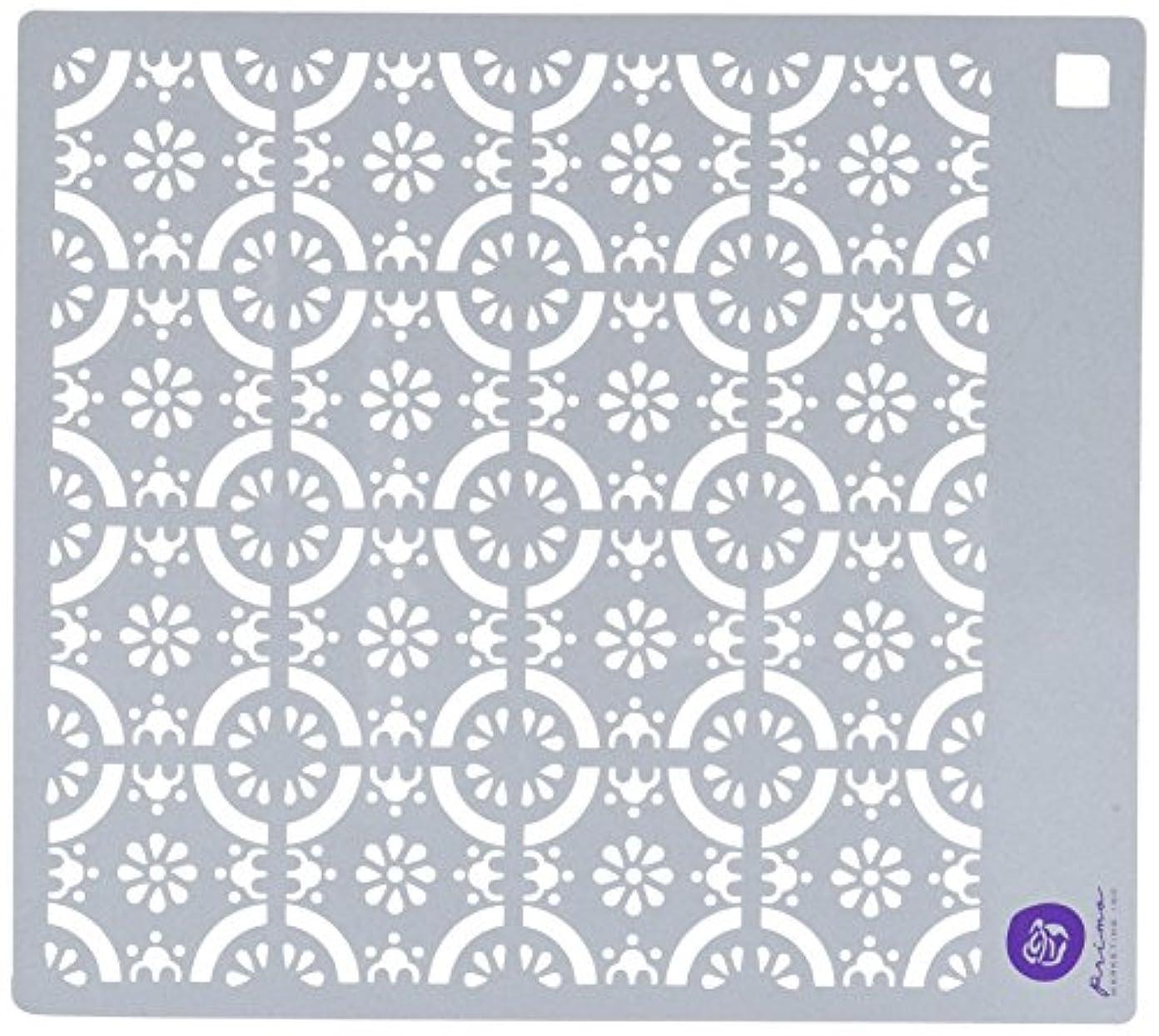 不足むしろちょうつがいPrima Marketing 584566 Designer Stencil, 6 by 6, Tile by Prima Marketing