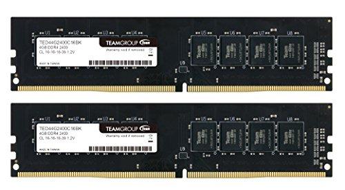 TEAM DDR4 PC4-19200 DDR4 2400MHzシリーズ Ecoパッケージ (4GBx2枚(8GBkit))