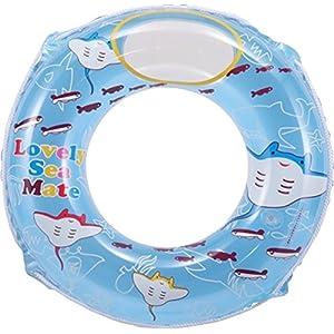 ヒオキ 浮き輪 のぞける浮き輪 60cm マンタ/ブルー