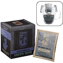 TRIBO Coffee Single-Serve Portable Pour Over Drip Coffee | Specialty Grade - Guatemala Antigua La Flor | 10 Servings Per Box (Medium Roast)