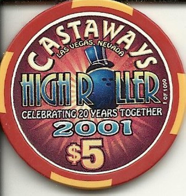 $ 5 Castawaysラスベガスカジノチップ2001 High Roller