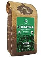 Joffrey's Coffee & Tea Co. Small batch Artisan Roasted, Organic Café Femenino Coffee, Sumatra is Rich, Bold and Earthy with Sweet Dark Berry notes, Dark Roast Ground 12 ounce 100% Specialty Arabica