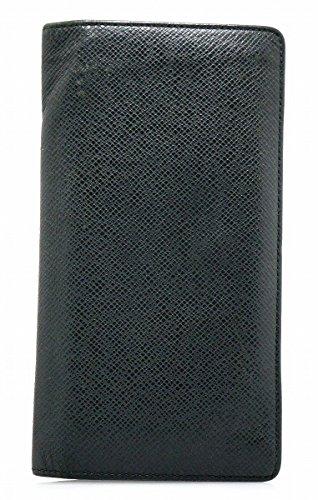 [ルイ ヴィトン] LOUIS VUITTON タイガ ポルトフォイユ ブラザ 2つ折長財布 カーフ レザー アルドワーズ 黒 ブラック メンズ M32572