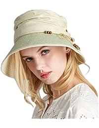 夏のエレガントなバイザー帽子 - 女性のファッションカジュアル漁師の帽子アウトドアUV保護キャップ折りたたみ可能なサンハット (色 : ベージュ)