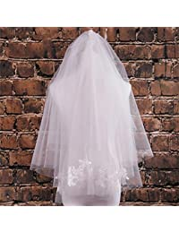 シュウクラブ- 韓国のレースソフトネット短糸糸の花嫁の結婚式の結婚式のベールカバーのベール
